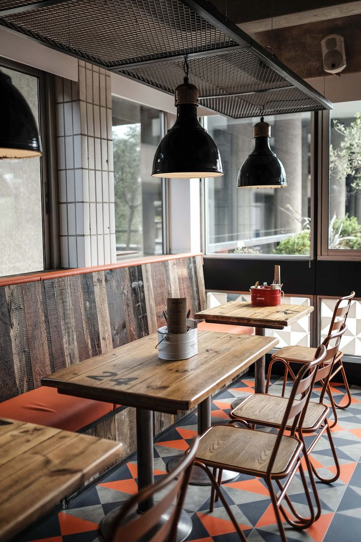 Bonfire Restaurant @ The Barbican Centre, London. Designed by Catering Design Group