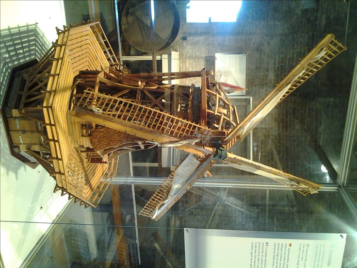 the evolution of windmills: Windmill Museum in Leiden, Holland