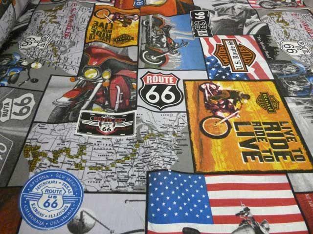 """#Tessuto stampato da #arredamento """"Il sogno americano"""" Composizione: misto #cotone e poliestere"""