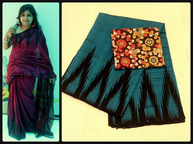 simple and elegant pure cotton temple design saree paired with kalamkari blouse | Buy online sarees | Elegant Fashion Wear Price:2500 #exclusive #cotton #temple #saree #kalmkari #blouse