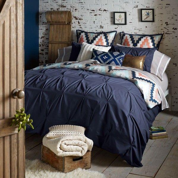 Blissliving Home Harper Queen Duvet Set (€280) ❤ liked on Polyvore featuring home, bed & bath, bedding, duvet covers, zig zag bedding, queen pillow shams, queen bed linens, chevron queen bedding and queen duvet set