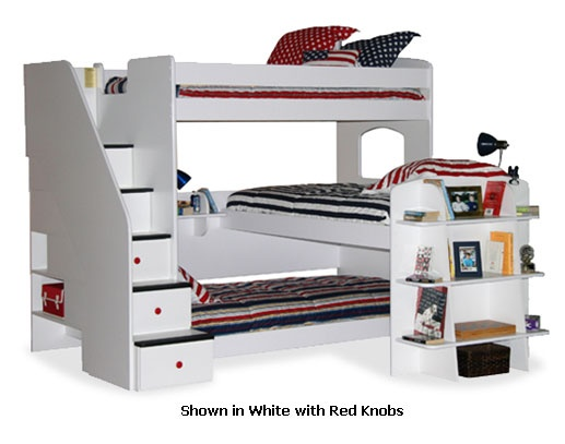 Utica Lofts Trifecta Bunk Bed With Stairs