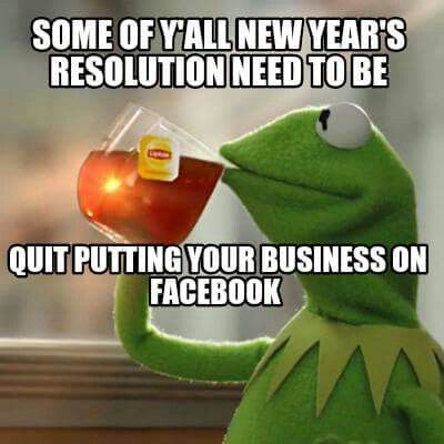 New years & the rest of your life resolution.