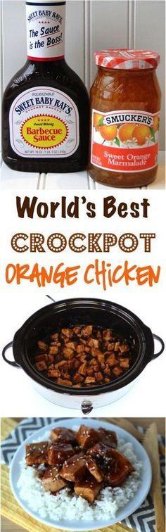 Crockpot Orange Chicken Recipe | Bake a Bite