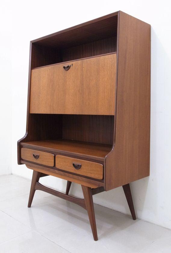 1950s Webe Teak Cabinet, Design by Louis van Teeffelen