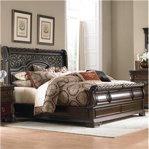 Liberty Furniture Arbor Place Queen Traditional Sleigh Bed - Great American Home Store - Sleigh Bed