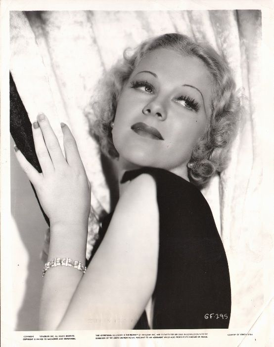 Glenda Farrell portrait from WE'RE IN THE MONEY, featured in interview with Farrell biographer Scott Allen Nollen: http://immortalephemera.com/56342/glenda-farrell-interview/