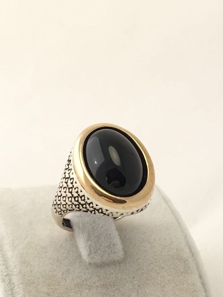 NEW TURKISH HANDMADE OTTOMAN 925k STERLING SILVER BLACK ONYX MEN'S RING Size 10  | eBay