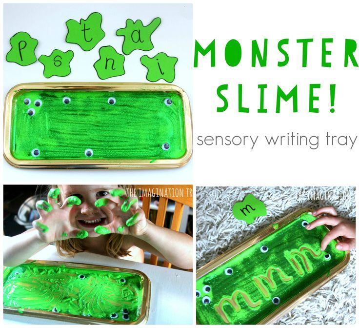 Monster Slime Sensory Writing Tray