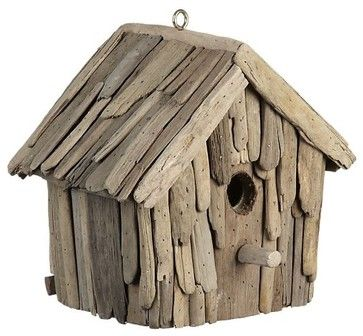 Driftwood Birdhouse  $39.95	  This adorable little driftwood birdhouse would make a porch happy. Sit it on a shelf and enjoy.	 — Southern Hospitality