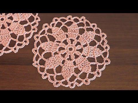 Сrochet doily Flower pattern Part 1 - YouTube