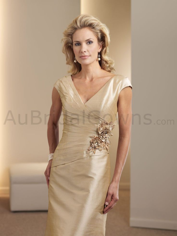 Possible Mother of the bride dress: Silk Shantung V-neck ...