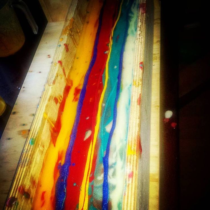 The design process... this is my bliss, my passion, my hearts song. Feeling at one with the soap, colours and just let it go!! Carnivale