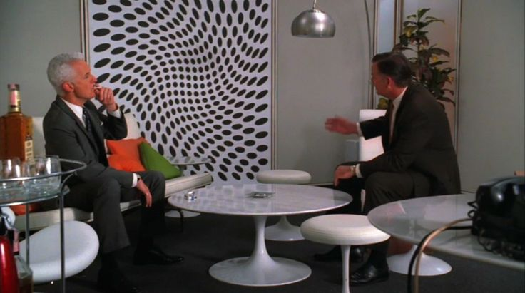 Op Art Painting in mad men
