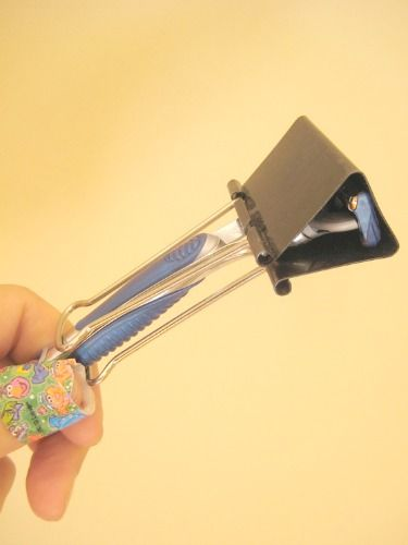 Protect from unexpected nicks and cuts while digging through your suitcase for the razor you know you packed.