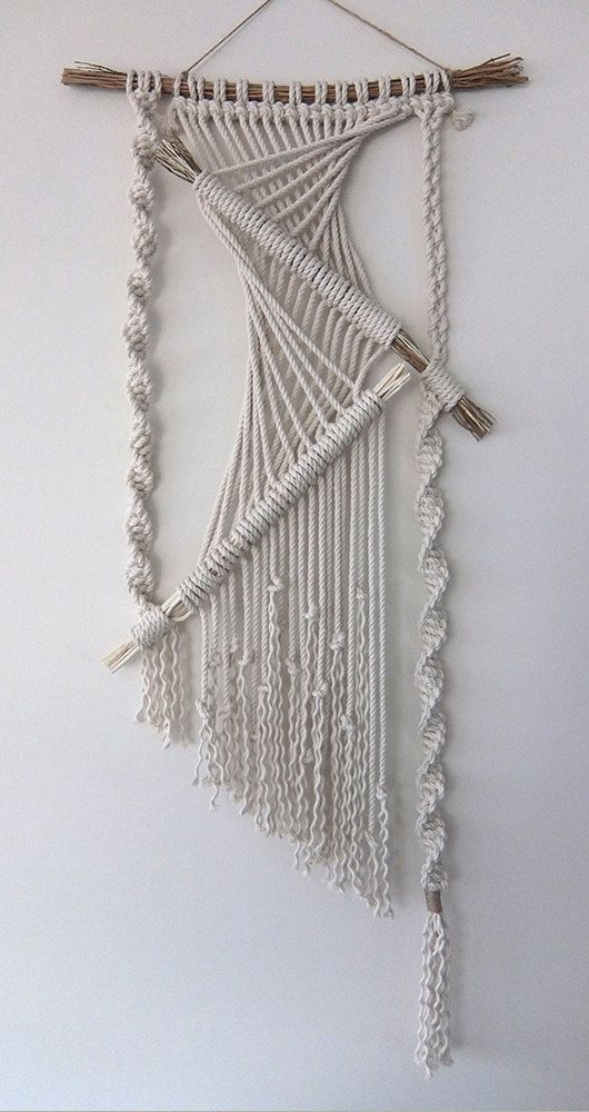 Macramé Wall Hanging by MyMacrameArt on Etsy                                                                                                                                                                                 More