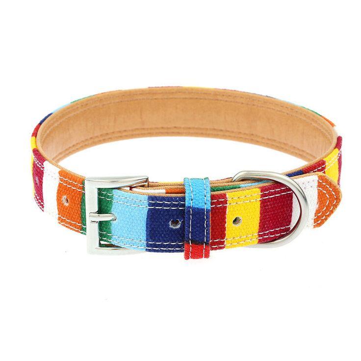 Bold Color Rainbow Dog Collar