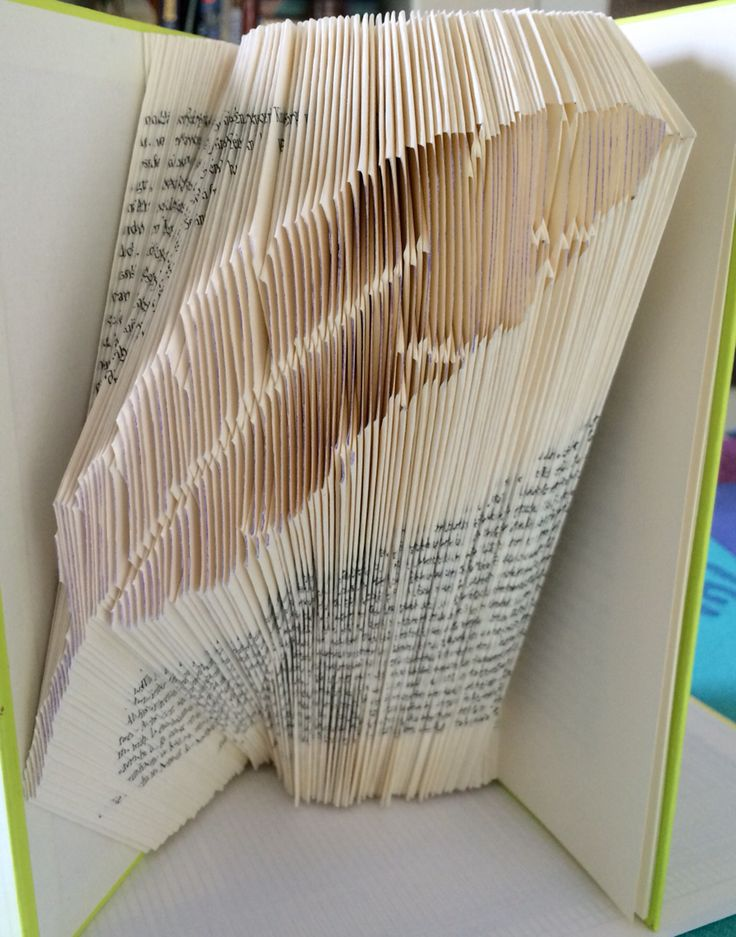 Buch Origami Book folding feather