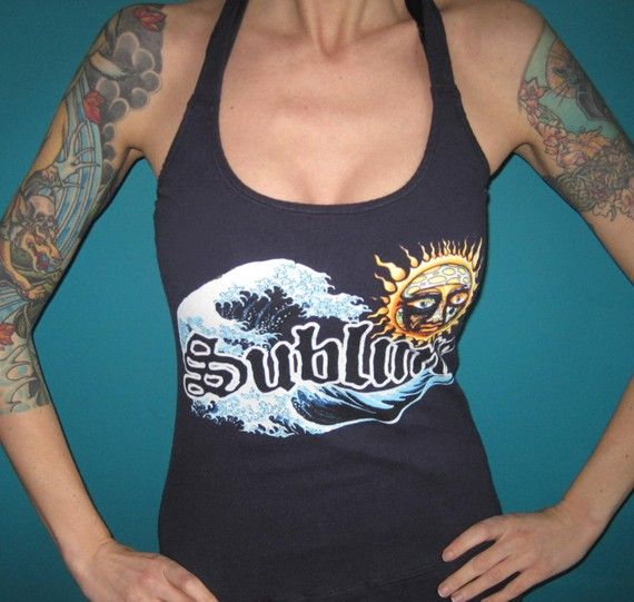 SUBLIME ska punk halter top made from a vintage shirt Small Medium or Large