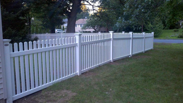 80 4 X 8 Straight Top Picket Pvc Vinyl Fence White With