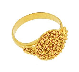 RR Orafi in Sassari | Anello in oro filigrana a nido d'ape