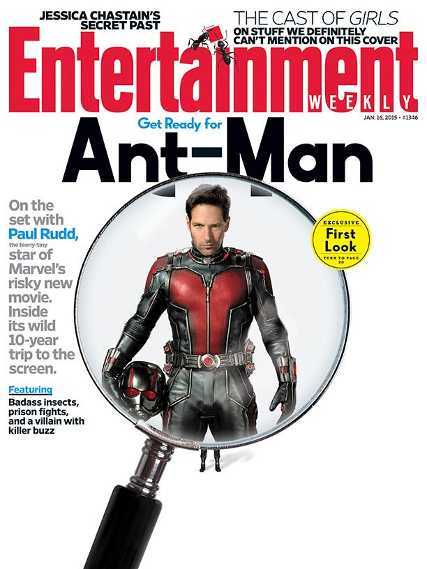 We have the big story behind #Marvel's long-awaited #AntMan: http://popwatch.ew.com/2015/01/06/this-weeks-cover-ant-man-marvel-paul-rudd/