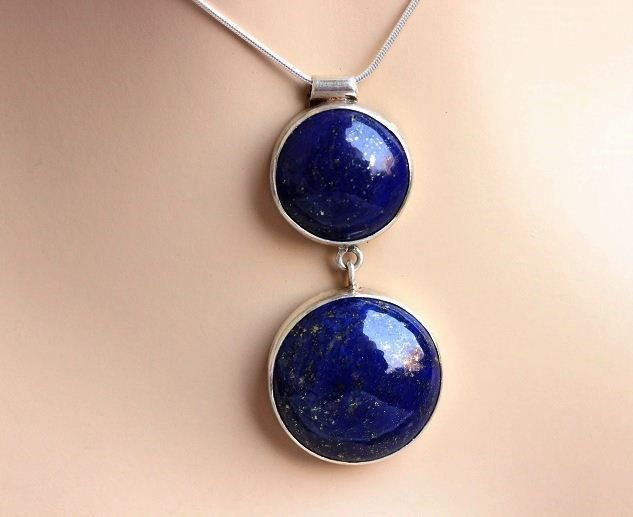 Buy Blue pendant, Lapis lazuli pendant in sterling silver by aStudio1980 Online at aStudio1980.com. 100% handcrafted and original.