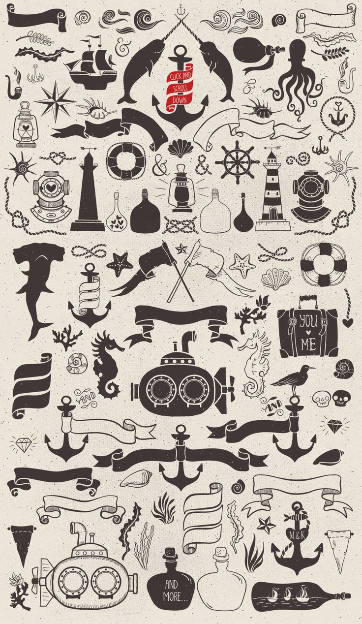 Nautical romantic vector pack by kite-kit on Creative Market