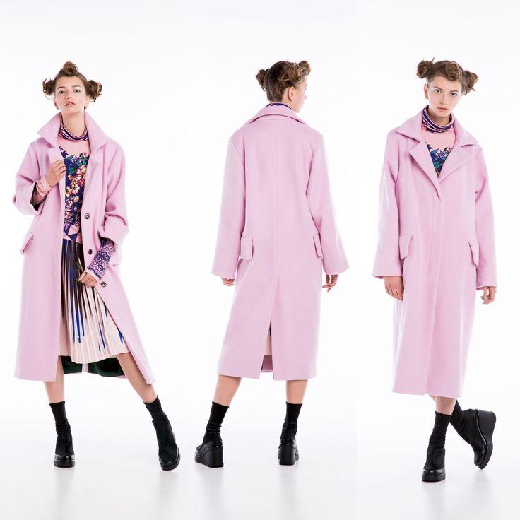 Confashion pink coat