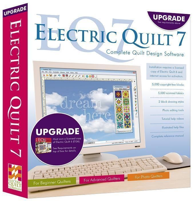 NEW Electric Quilt 7 Upgrade - EQ7 -  Quilt Design Software Upgrade from EQ6 #ElectricQuilt