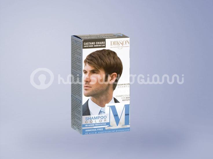 Dikson Shampoo Color For Man CASTANO CHIARO Dikson M FOR MAN Shampoo Color Ammonia Free Colore tono su tono naturale. Non modifica il colore dei tuoi capelli, ma copre perfettamente i capelli bianchi o grigi, senza lasciare riflessi rossastri indesiderati. Il risultato è naturale e il colore è sta Per saperne di più clicca sul seguente link: http://www.hairstudiogianni.com/Dikson/Dikson-Shampoo-Color-For-Man-CASTANO-CHIARO.html
