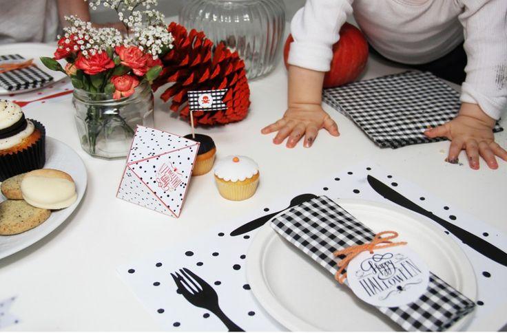 Ensemble sweet table Halloween à imprimer