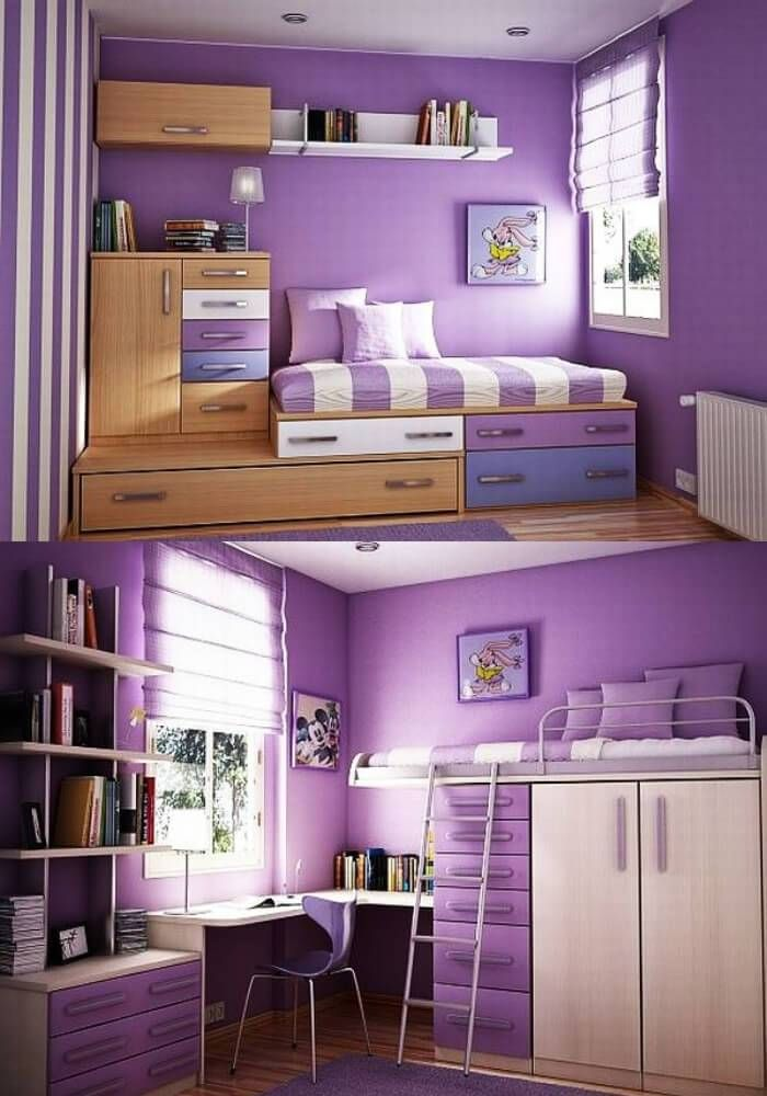 37 Cool Bedroom Decorating Ideas For Teens Girl Room Purple