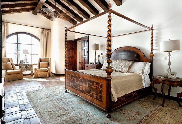 62 best spanish style homes images on pinterest tuscan for Spanish style bed