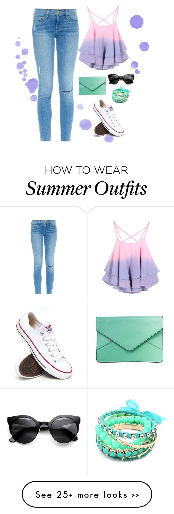 """Casual Summer Outfit"" by lizzywaters on Polyvore (Top Design Fashion)"
