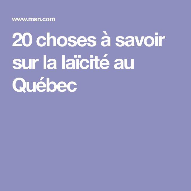 20 choses à savoir sur la laïcité au Québec