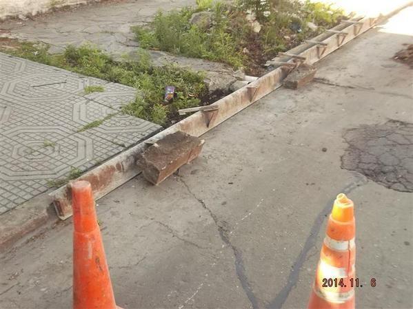 #Pergamino #ServiciosPúblicos Se repararon 15 metros lineales de cordón cuneta en calle Estrada entre San Martín y Belgrano