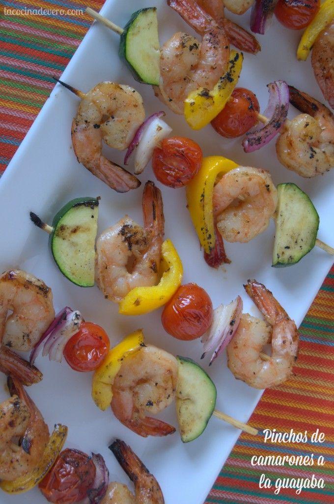 Pinchos de camarones a la guayaba / Guava Shrimps Skewers #KikkomanSabor #Ad #LatinaBloggers
