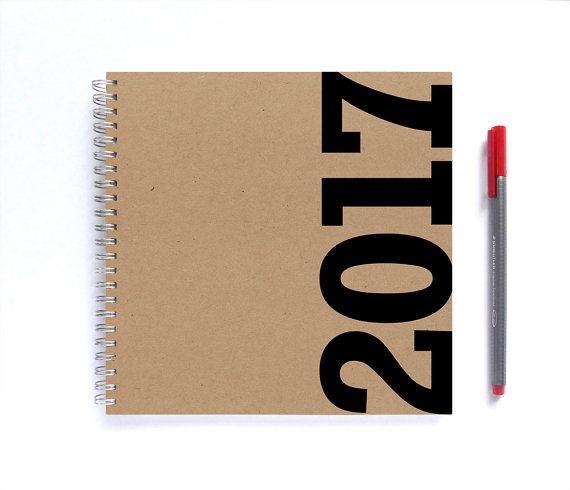 2017 Weekly Planner - LARGE 20cm/7.9in Square
