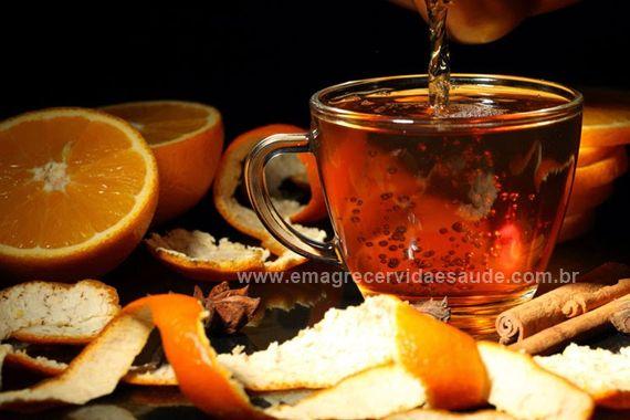 Cha emagrecedor de casca de laranja
