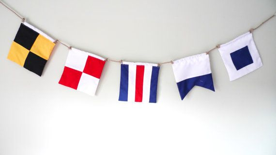 Nautical personalised bunting maritime signal by AislingDezines