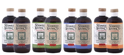Seaweed Bath Co. Wildly Natural SeaweedTM Argan Shampoos and Conditioners combine our seaweed extract with soothing Argan Oil and Vitamin E to gently cleanse and moisturize your hair and scalp.