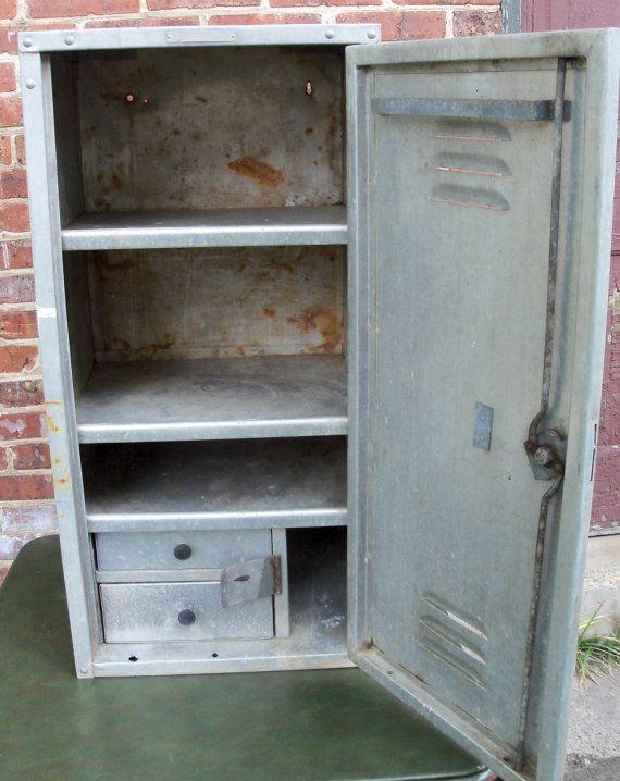 Metal Locker: Kitchen? Metal LockersIndustrial StorageVintage Industrial