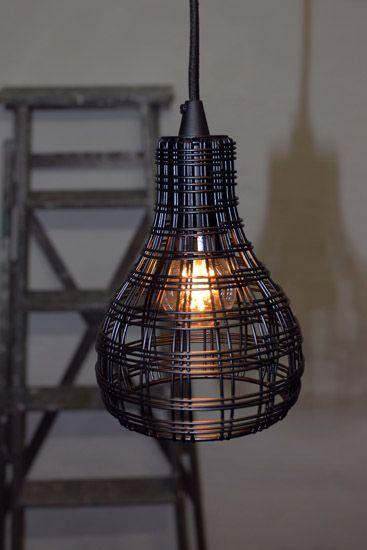 """Bild på Oriva Fönsterlampa """"Trådbur""""(Svart)"""