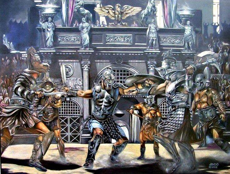 Famous Roman Soldier Painting