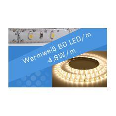 LED Streifen Warmweiß 60 LED/m 4,8W/m