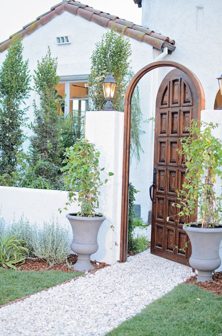 curved spanish entry door  Courtyard and Garden Casita