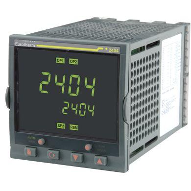 Controlador 2404 - Control de alta Estabilidad - Hasta 20 Programas - 16 Segmentos - Calentamiento y Enfriamiento - Funcionamiento personalizable - Visualización de Intensidad del Calefactor - Varias Alarmas en una misma Salida - Retransmisión por CC - Comunicaciones digitales: Modbus RTU - Red Profibus DP - Red Devicenet