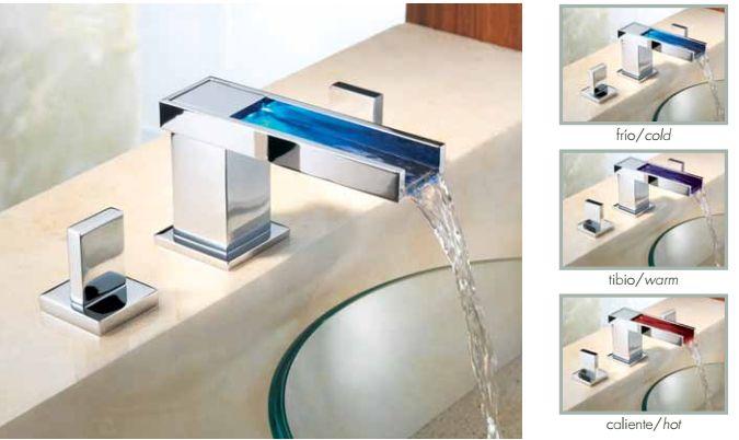 """#CuidaElAgua-Vértika M-1000 #Mezcladora para lavabo de 8"""" y 12"""" con desagüe automático, consumo máximo 5 l/min. Presión hidráulica requerida 1 kg/cm2. Incluye manerales. http://www.helvex.com/contenido.php?producto=492"""