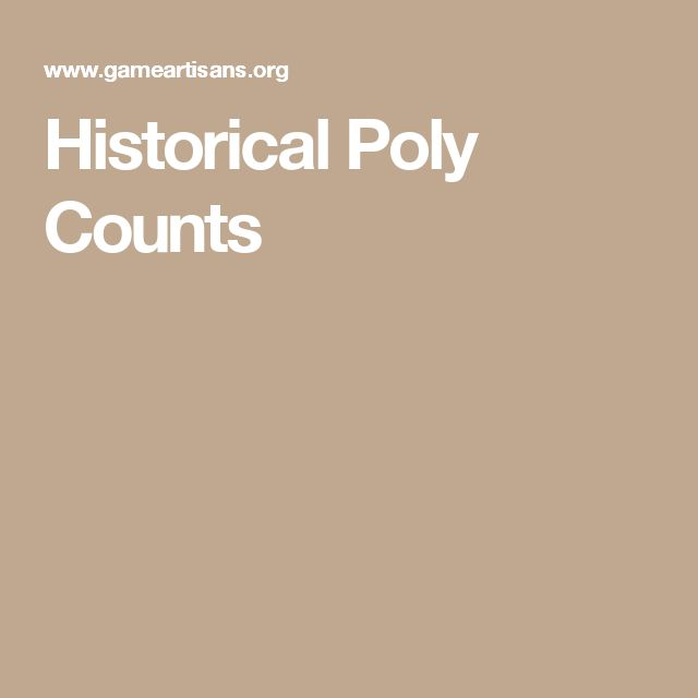 Historical Poly Counts